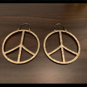 Metal Peace Earrings
